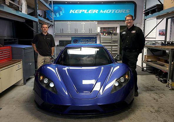 Derk Hartland, Kepler Motors (left), Stewart Davis, CRP USA (right)