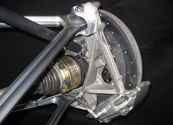 Cast titanium upright by Kepler Motors