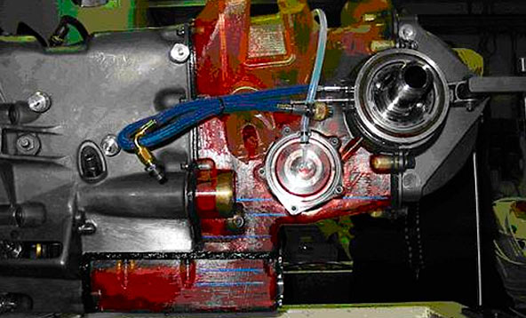 This is a picture of the system where the primary shaft is turning at a speed of 3,000 rpm