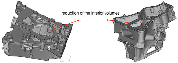Reduction of the interior volumes