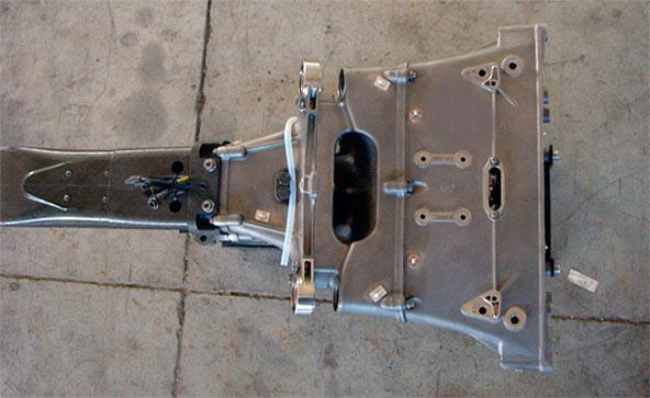 Scatola Cambio Minardi realizzata in Titanium Rapid Casting 2005